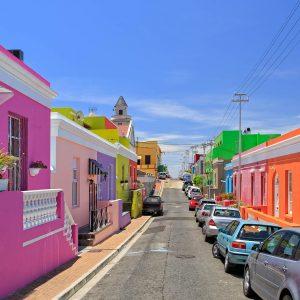 Cidade de Bo Kaap na Cidade do Cabo