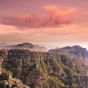 Vista de Table Mountain - Montanha dos Doze Apóstolos. Cidade do Cabo, Cabo Oeste